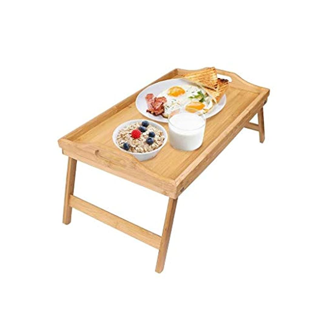 後方に前置詞ごめんなさい無垢材のベッドトレイ、折りたたみ式ベッドの小さなテーブル、怠惰なラップトップテーブル、多機能は非常に実用的です。 HuuWisseor22