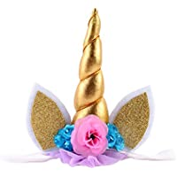 Dovewill ベビー 赤ちゃん ホーン型 花 写真撮影 髪飾り ヘアアクセサリー ヘアバンド 全6色