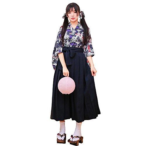 Rimocy 親子服 レディース 女の子 昭和レトロ風袴4点...