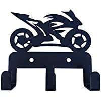 HeavenlyKraft スポーツバイク 壁取り付け スチールキーホルダー フック3個付き スチール製キーラック メタルキーキャビネット メダルハンガー リーシュハンガー 5.11 X 3.93 X 1インチ