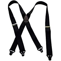 HoldUp Brand Classic Series XL Black Suspenders with Patented Black Gripper Clasp