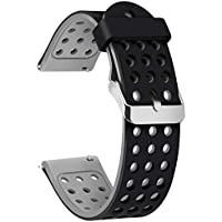Moretek Silicone 18mm 20mm 22mm Watch Band, Multi Color , Width Choice Water Sweat Resistance Wrist Bands Useful Bracelet