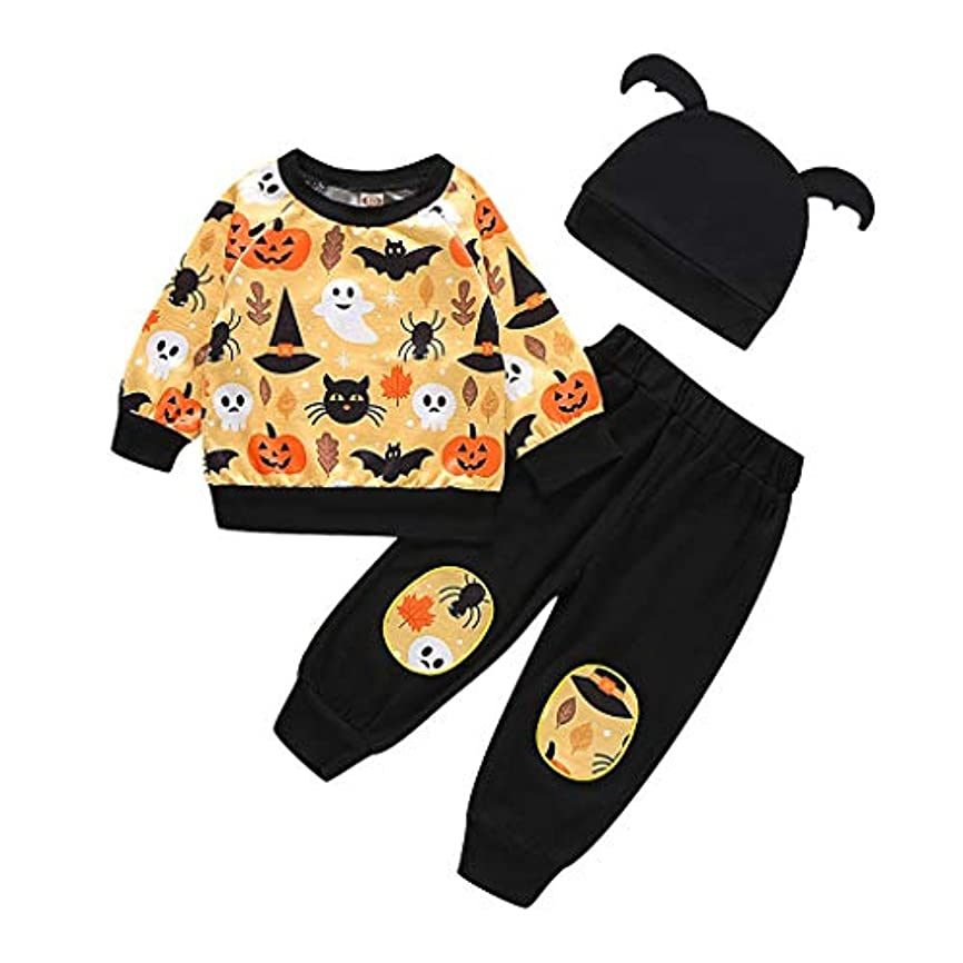 一族モンスター不屈MISFIY 新生児 赤ちゃん ベビー服 子供 上下セット 帽子 パジャマ 綿 肌着 かわいい 柔らかい 誕生記念 出産祝い 寝相アートハロウィン