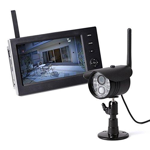 サンワダイレクト 防犯カメラ ワイヤレスモニター付きセット 防水屋外カメラ1台 + ワイヤレスモニター 400-CAM055-1