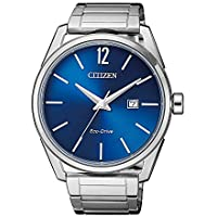 Citizen Men's Solar Powered Wrist watch, stainless steel Bracelet analog Display and Stainless Steel Strap, BM7411-83L