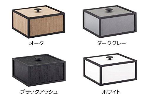 by Lassenバイラッセン 木製 収納ボックス / 小物入れ 幅14cm オブジェにも 【 ダークグレー 】