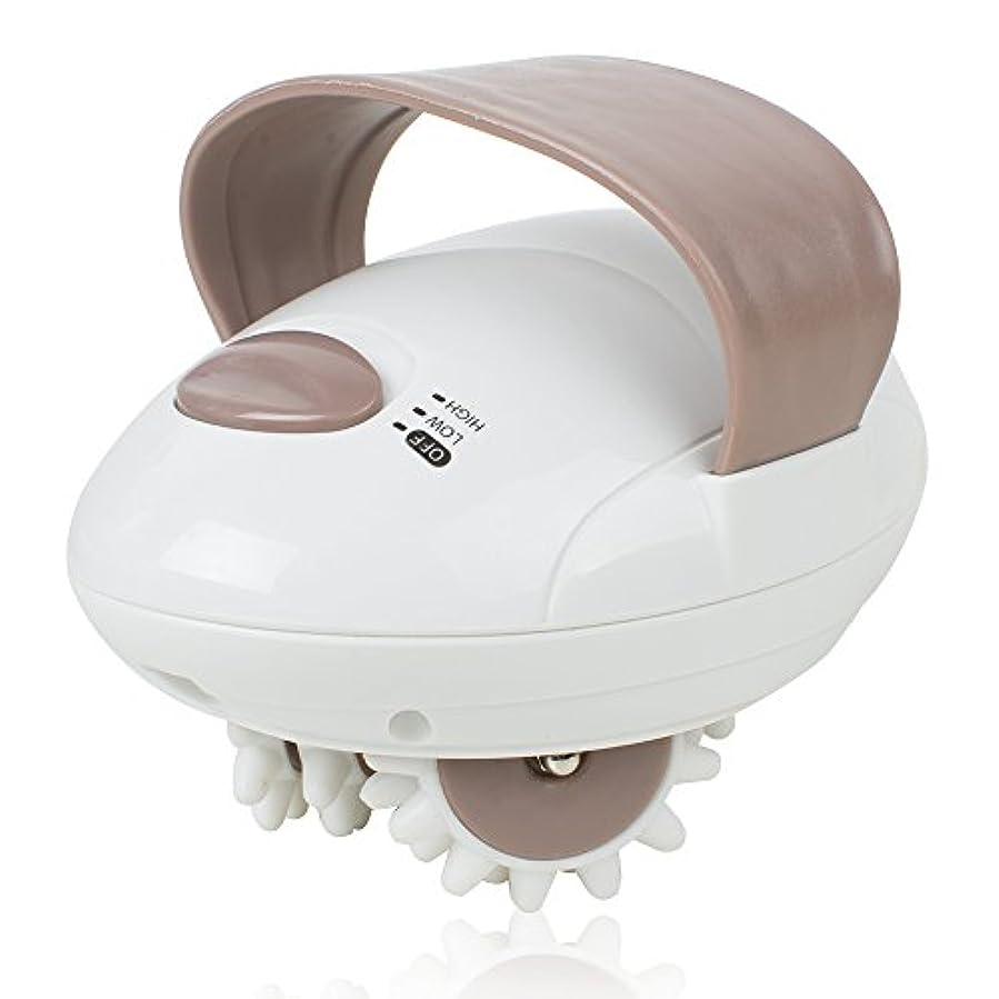 過言爬虫類同様のハンディーマッサージャー 電動3D回転ローラー 全身適用 静音防水 頭?首?肩?腕?腰?足?背中 こりこり対策 疲労回復 携帯便利
