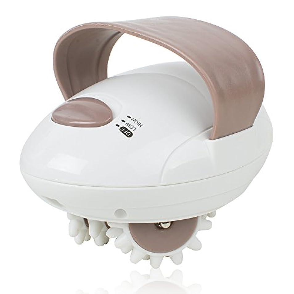 ハンディーマッサージャー 電動3D回転ローラー 全身適用 静音防水 頭?首?肩?腕?腰?足?背中 こりこり対策 疲労回復 携帯便利