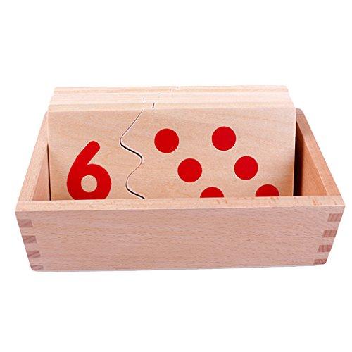 モンテッソーリ 木製数字パズル Montessori Number Puzzle 知育玩具