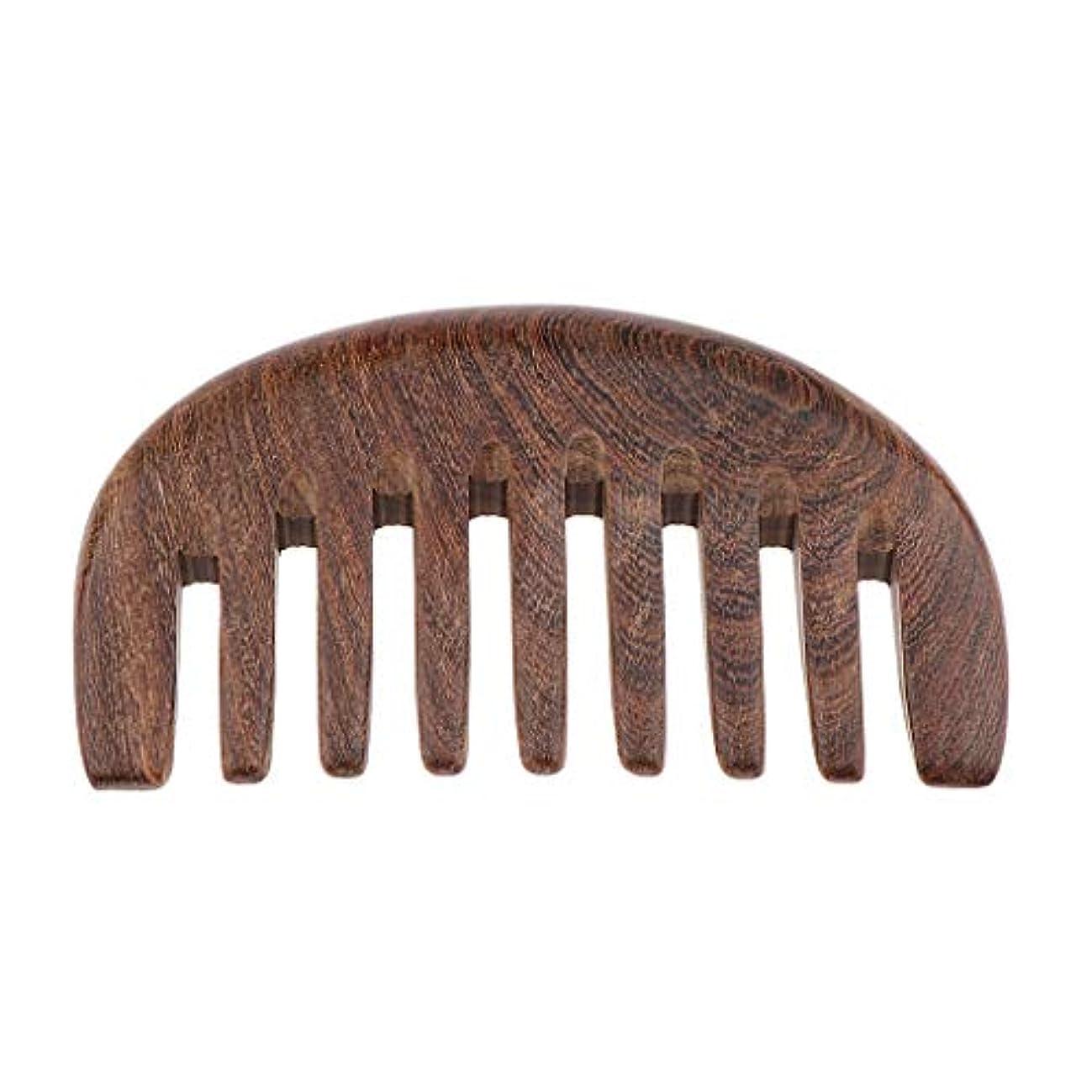 ハイブリッドトロピカル郵便物木製ヘアコーム 手作り 櫛 ナチュラル木製 マッサージコーム 3色選べ - クロロフォラ