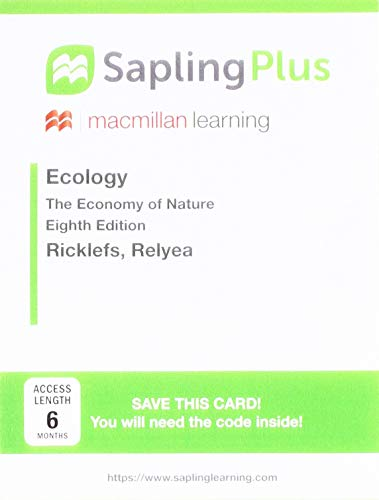 Download Saplingplus for Ecology, Six Month Access: The Economy of Nature 1319060439