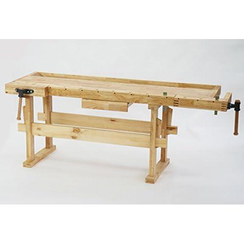 W210 木工作業台 木工用作業台 木製作業台 工作作業台 木製工作作業台 作業台 木製 バイス 工作用 木工用 デスク 机