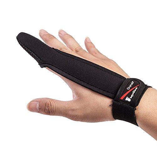 【オルルド釣具】フィンガープロテクター < 全力キャスト時に指をガード/ラインを掴む感覚を損なわずスムーズなキャスティングが可能 / 投げ釣り・キャスティングに最適> 1本指 指サック 手袋 ブラック qb500075a01n01