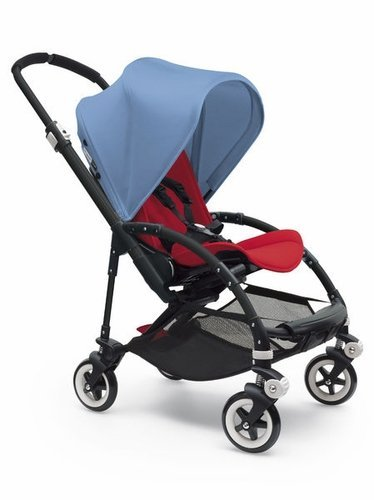 Bugaboo Bee 3 Black Frame Stroller With Red Seat (Ice Blue) by Bugaboo [並行輸入品]