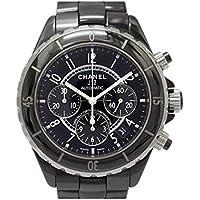 [シャネル] CHANEL J12 クロノ メンズウォッチ 腕時計 ブラック×シルバー セラミック×ステンレススチール(SS) H0940 [中古]
