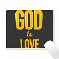 神は愛である。 3Dテキストアート。グレイの背景に1ジョンからの詩 PC Mouse Pad パソコン マウスパッド
