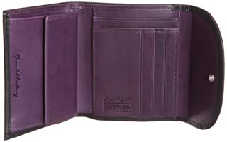 Small 3 Fold Wallet 3146-403-0059: Black / Purple