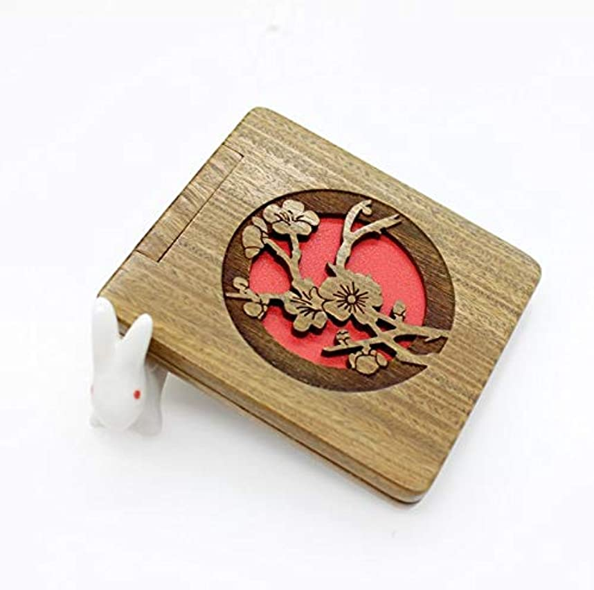 キャメル収穫眠っている化粧鏡、シンプルなサンダルウッドピーチ化粧鏡の化粧ギフト (Color : グリンー)