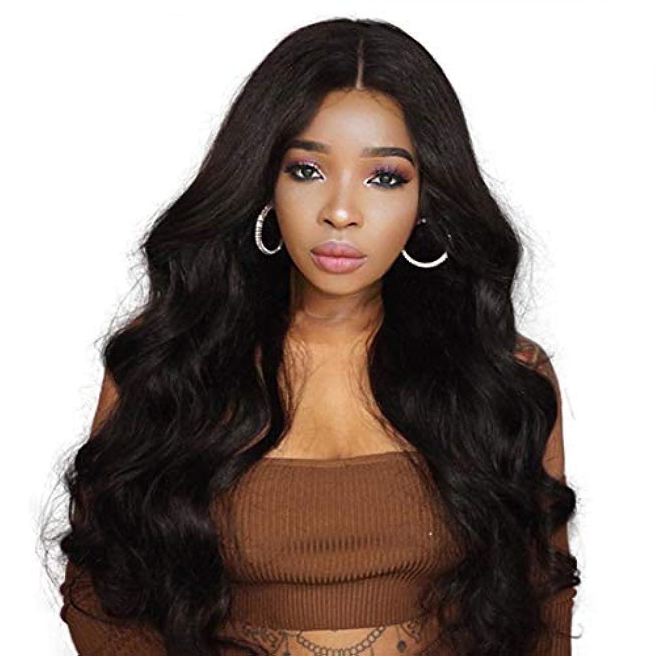 延期するベッドを作る放射するSummerys 黒人女性のための長い波状の合成かつらカーリー合成かつら