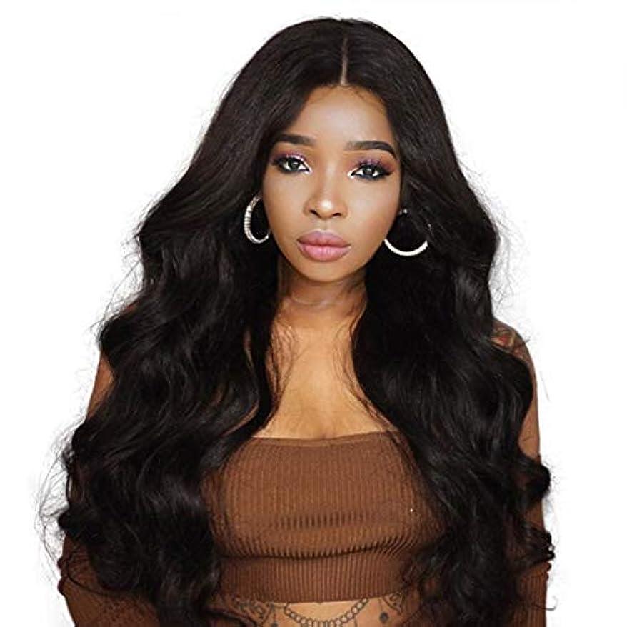 反発維持する適応Kerwinner 黒人女性のための長い波状の合成かつらカーリー合成かつら