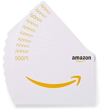 Amazonギフト券 - マルチパック・カードタイプ - 500円×10枚 (Amazonオリジナル)