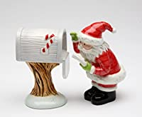 Cosmos Gifts 62757 Mrs Clausメールfor Santa Salt and Pepper Shakers