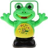 P Prettyia 子供 おもちゃ フィギュア ロープジャンプカエル ロボット 電動おもちゃ