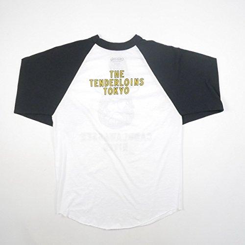TENDERLOIN テンダーロイン 17SS RAGLAN 3/4 CV ラグランロンT 白黒 M