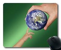 カスタムマウスパッド、夢の地球植物のマウスを離れて、世界地球グローブは、タップドロップボールを与えるゲームのマウスパッド、ゲームのマウスマット