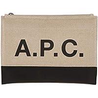 A.P.C. Men's LIADUH63293LZZNOIR Black Cotton Clutch