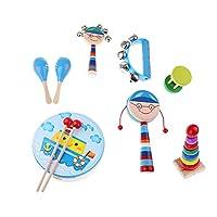 Fenteer パーカッション セット 子供 楽器玩具 バンドリズム キット 全6選択  - #5, 8個