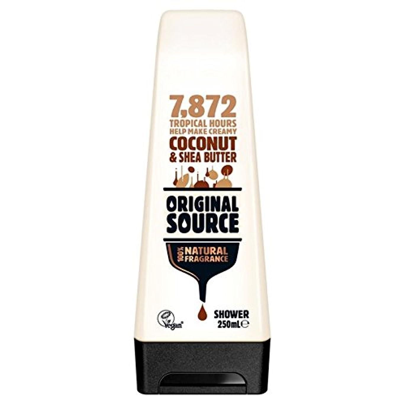 変更可能マントルの中で元のソース保湿ココナッツ&シアバターシャワージェル250ミリリットル x4 - Original Source Moisturising Coconut & Shea Butter Shower Gel 250ml (Pack...