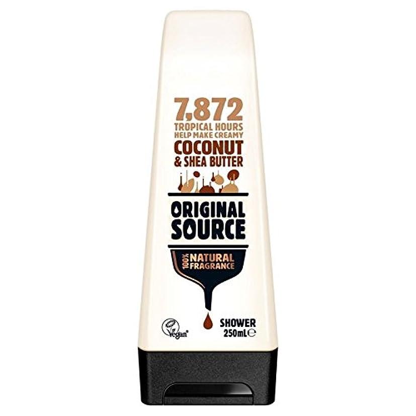 パトワ急流フレットOriginal Source Moisturising Coconut & Shea Butter Shower Gel 250ml - 元のソース保湿ココナッツ&シアバターシャワージェル250ミリリットル [並行輸入品]