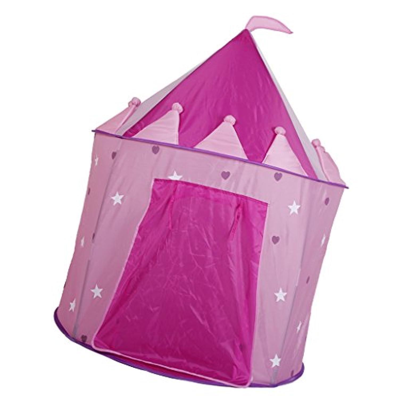 Lovoski 2色選ぶ キッズテント 子ども プリンセス城 遊びテント 遊び場 おもちゃ 屋内 屋外 - ピンク