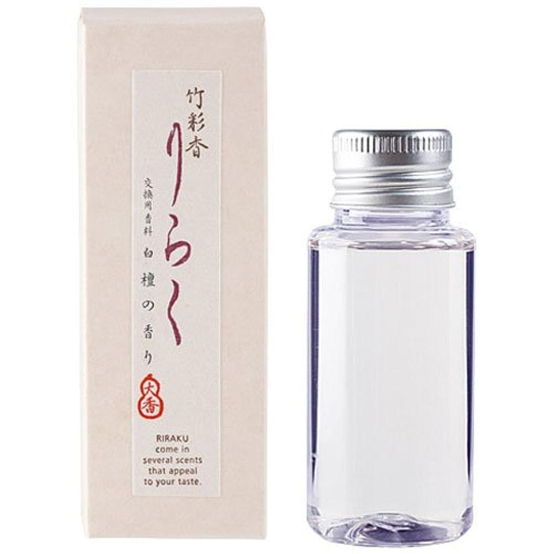 蒸発延ばす毒液竹彩香りらく 交換用香料白檀 50ml