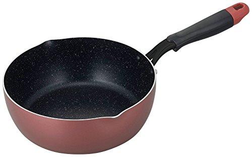 和平フレイズ 鍋型フライパン 22cm メガフッカ IH対応 ワインレッド MR-8146