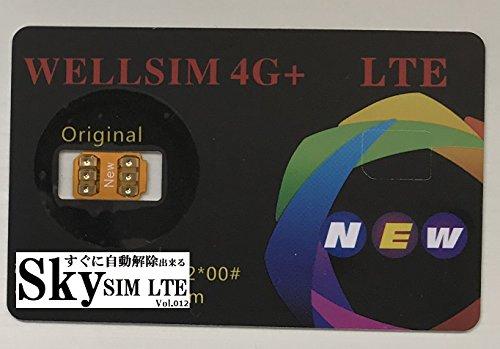 F.Wave ( Sky SIM Vol.018 )妨害プログラム対策 ICCIDモード搭載 音声通話/4G-LTE通信対応 ロック解除アダプタ/SIM Unlockgpplte docomo、au、SoftBankのiPhone X/8/8Plus/7/7Plus/6s/6sPlus/6/6Plus/se SIMロック解除アダプタ/SIM Unlock Sky WELLSIM 4G+ LTE SIM ICCID (WELL4G+解除)