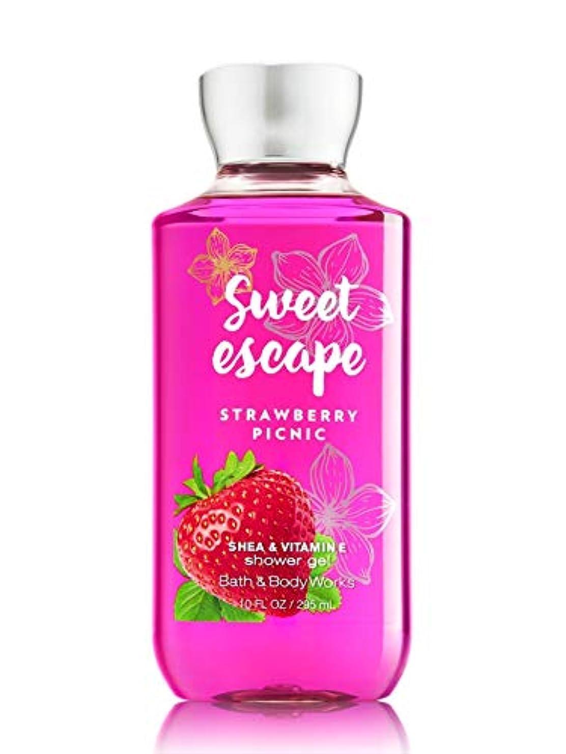 予算遅れ装置【Bath&Body Works/バス&ボディワークス】 シャワージェル ストロベリーピクニック Shower Gel Sweet Escape Strawberry Picnic 10 fl oz / 295 mL [...