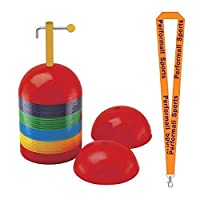 ChampionスポーツドームCone Set Assorted with 1performall Lanyard dcset-1p
