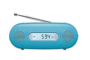 パナソニック FM/AM 2バンドレシーバー 手回し充電ラジオ ブルー RF-TJ10-A
