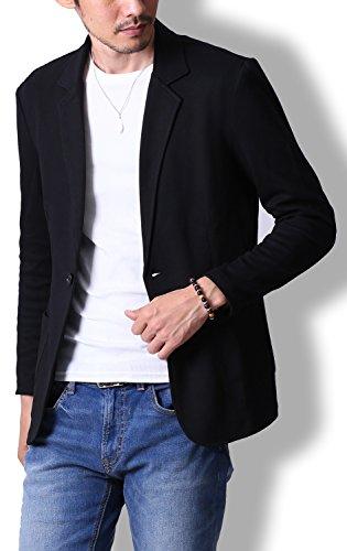 liberte riche(リベルテ リッシュ) スウェット メンズ ジャケット テーラードジャケット ビジネス カジュアル ブラック M