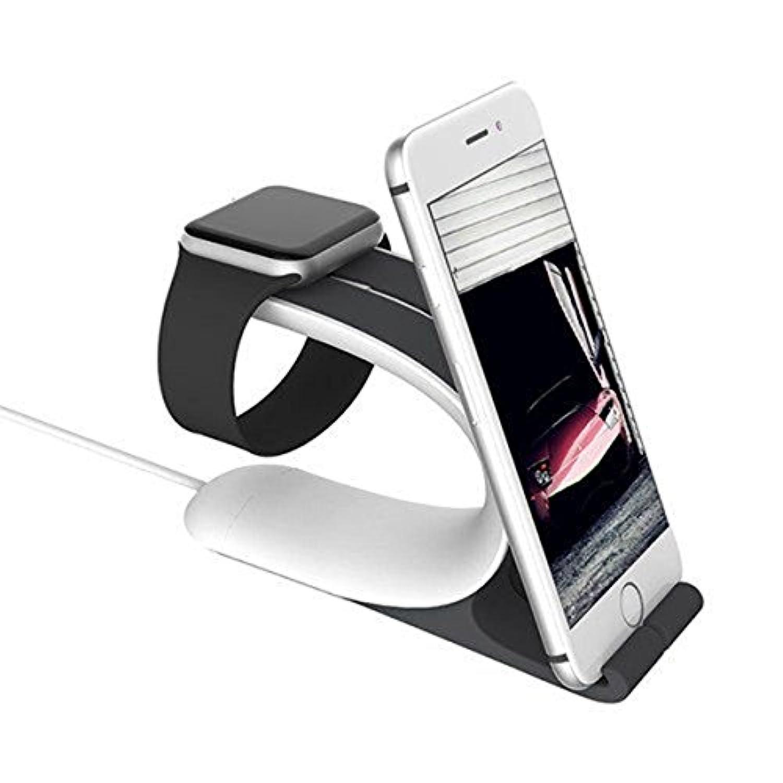 UKCOCO 2インチ1充電ドックスタンドブラケットアクセサリーAppleホルダーの電話ホルダーiWatch(グレー)