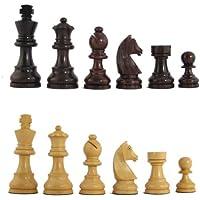 3'' MoW Cardinal Rosewood Executive German Staunton Chess Pieces