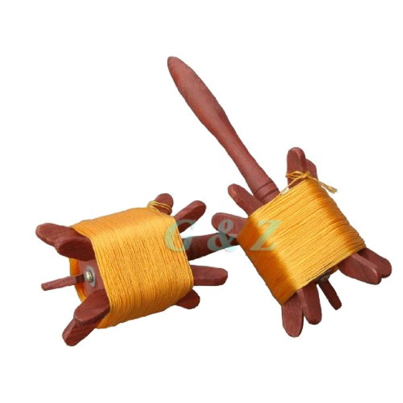 Medium Wooden Kite Flyingスピンドル文字列長: 55ヤード( 50 m )