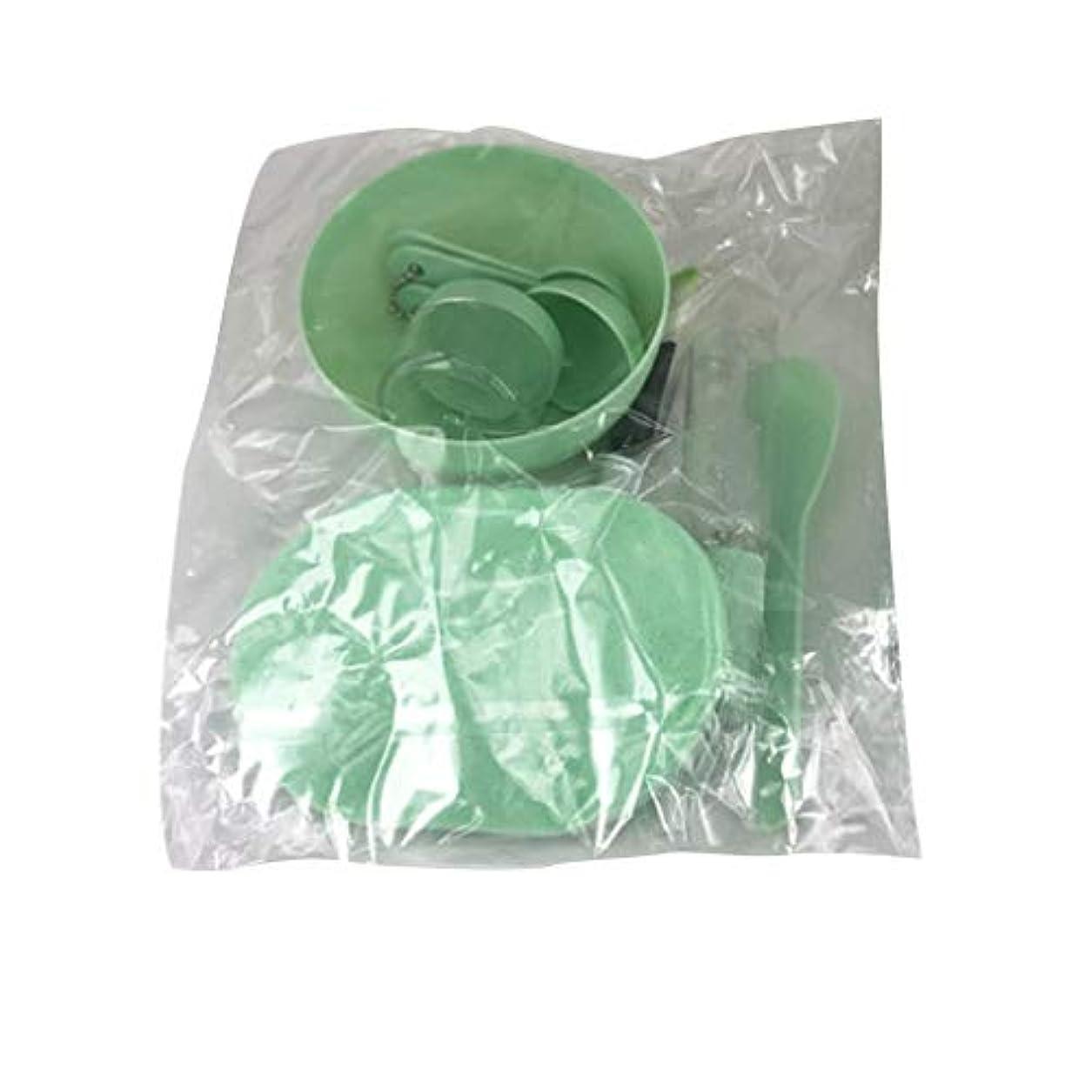 Nerhaily 美容パック用道具 マスクツール プラスチックボウル メイクアップツール フェイシャルマスクツール 9点セット DIY用品 スライム用ボウル サロン用具 全3色あり