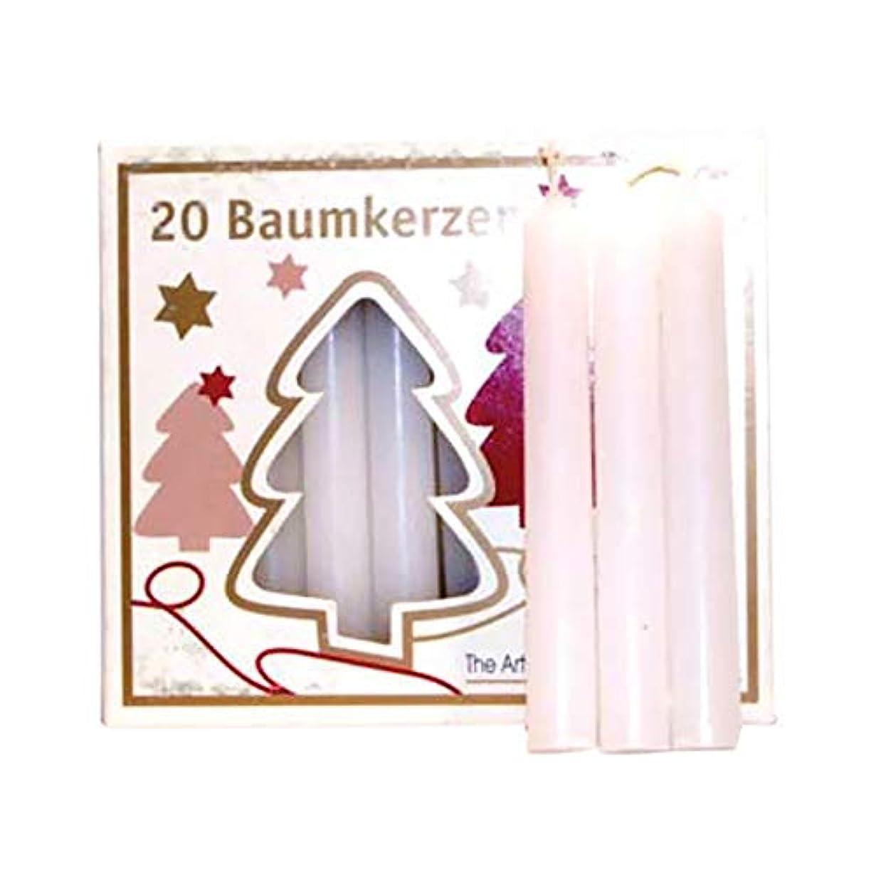 悪魔冷蔵する腰ホワイトAzureGreen C4WTチャイムキャンドル - 20パック