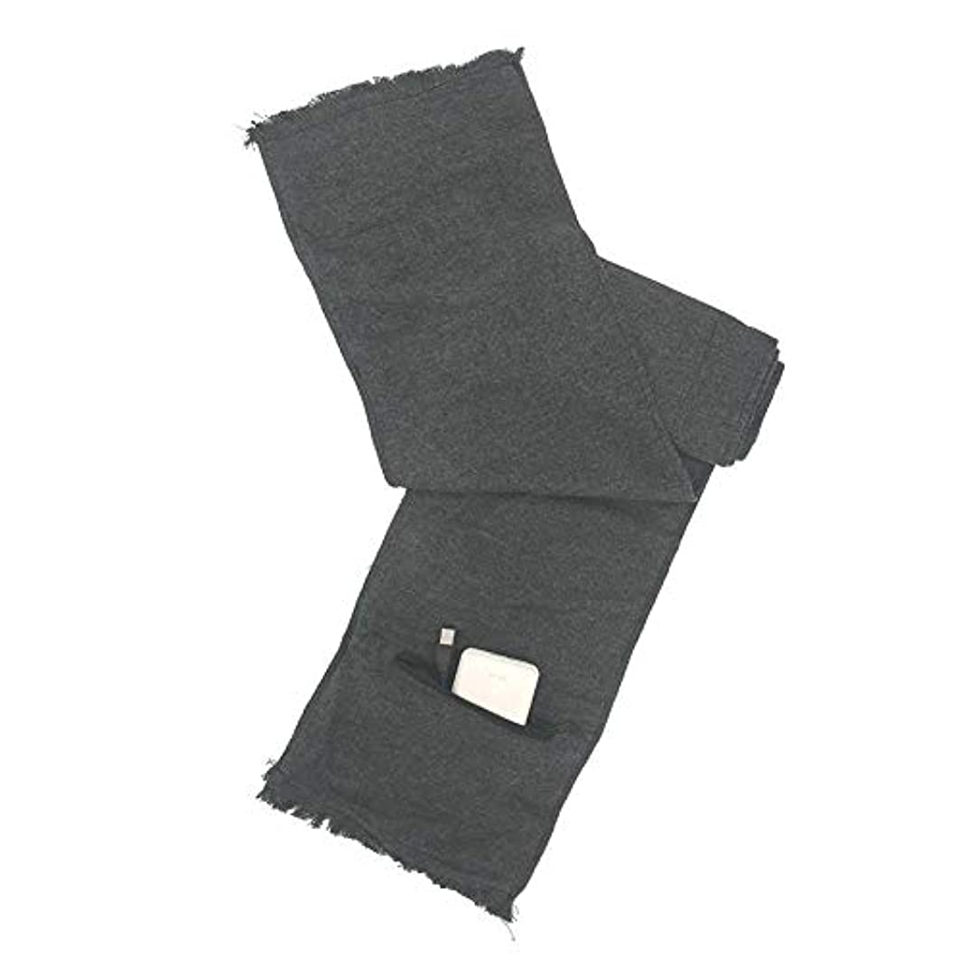 可決記念規則性Sund 電気加熱マフラー 冬用 加熱スカーフ USB充電式 遠赤外線 発熱効果 男女兼用 通勤通学 室外作業