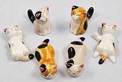 可愛い 猫 の 箸置き 6個セット