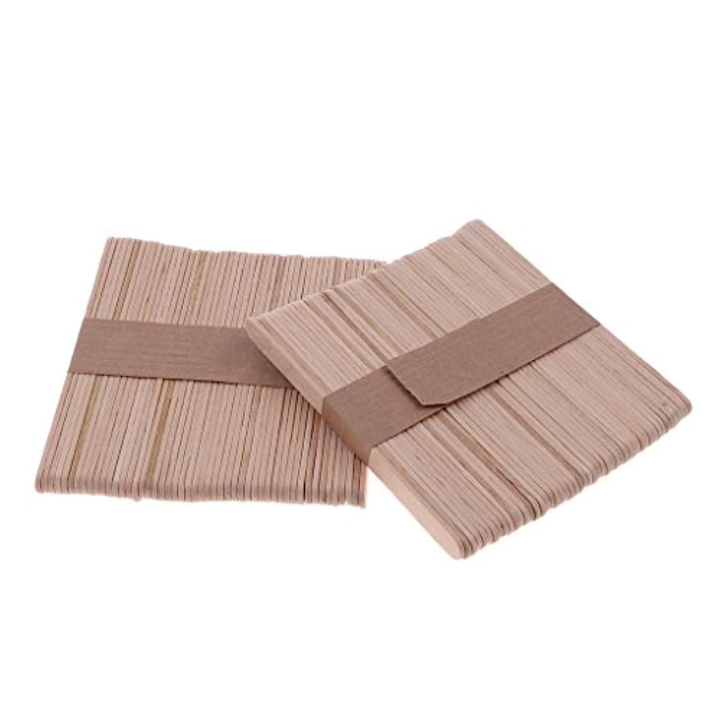 ライフル表示描写sharprepublic 木材スティック 脱毛 ワックス用 体毛除去 ウッド ワックススパチュラ 便利 200個セット - S