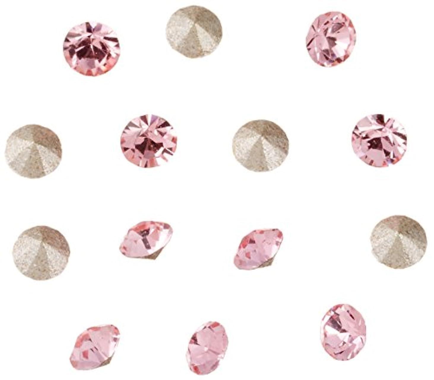 胚芽またはどちらか引き付けるネイルアートパーツ Vカットストーン ライトローズ PP15  約2.1~2.2mm